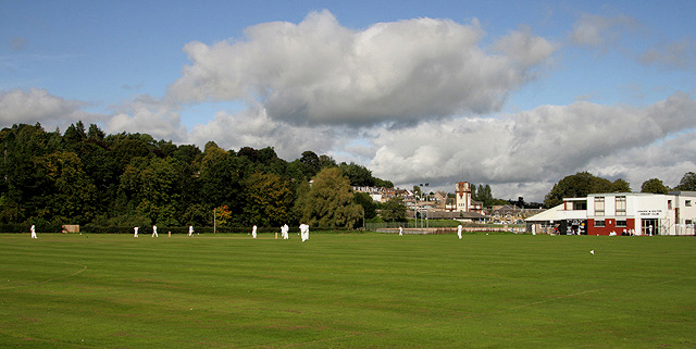 A cricket match at Buccleuch Park, Hawick