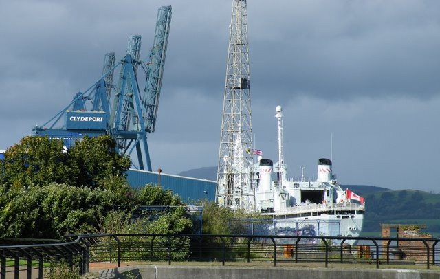 Canadian Warship at Greenock Ocean Terminal