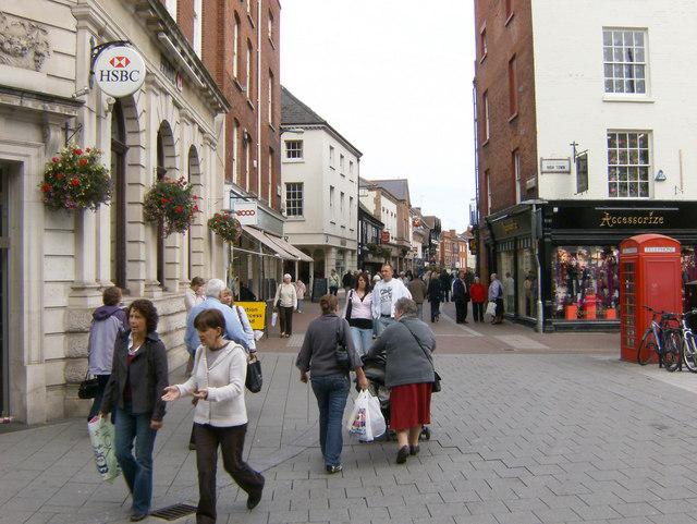 Widemarsh Street, pedestrian area, Hereford