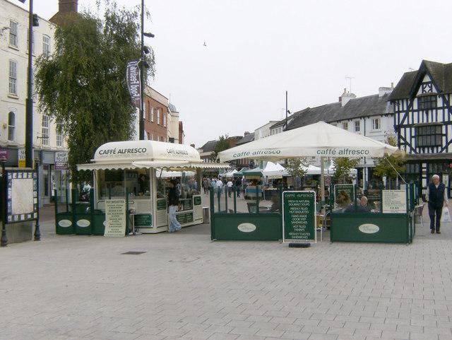 Caffe' Alfresco, High Town, Hereford.