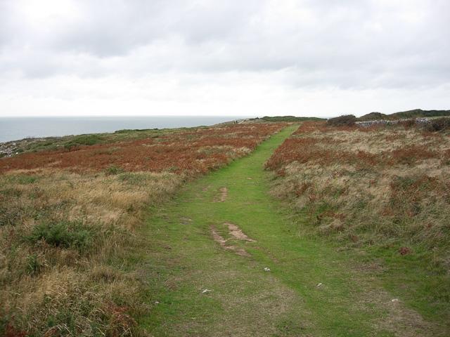 Coast path at Overton