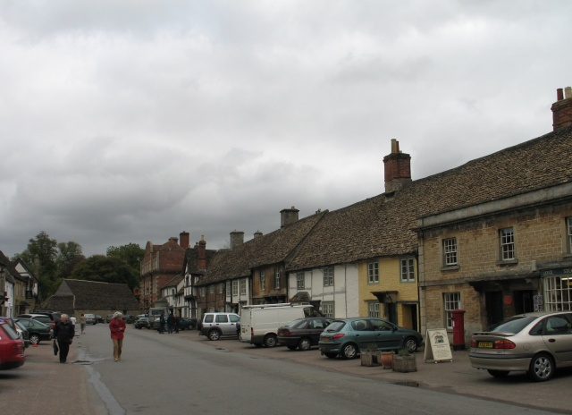 Lacock High Street on a Miserable Day