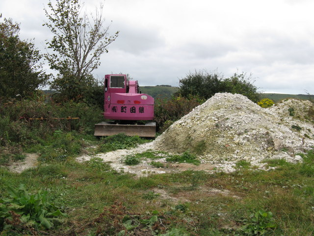 Japanese earth mover eyes up the Devil's Dyke