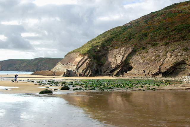 North end of the beach at Newgale, low water