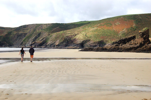 Walking on the beach at Pwll March, Newgale