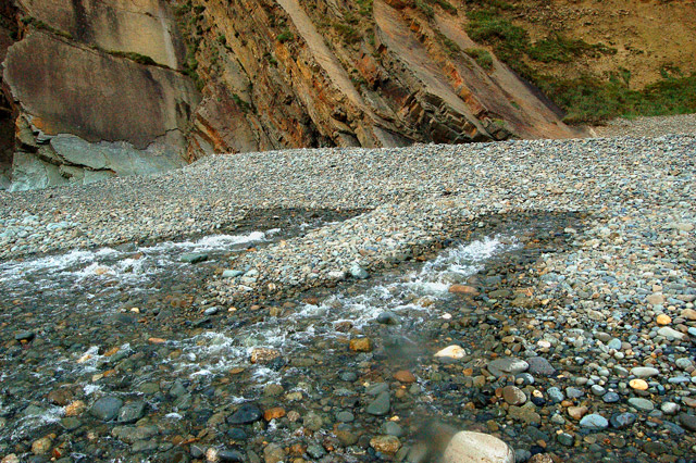 Brandy Brook emerging on Newgale beach (1)