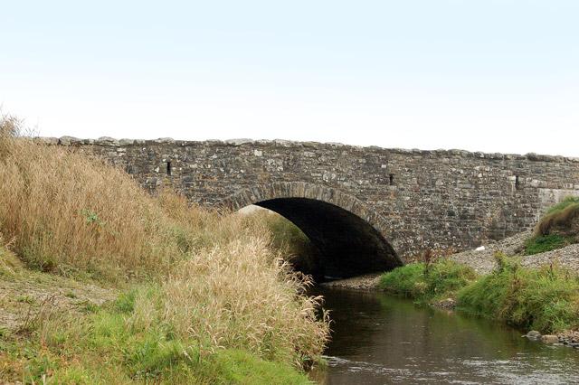 Newgale Bridge carrying the A487 across Brandy Brook
