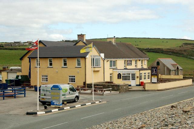 Duke Of Edinburgh public house beside the A487 at Newgale