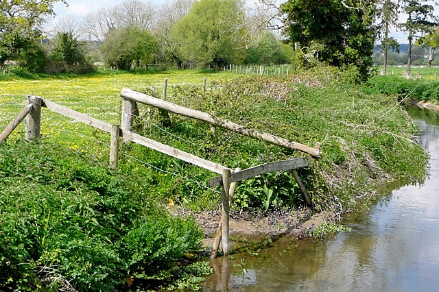 Cattle watering point off the Avon
