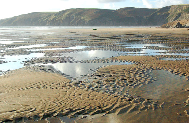 Sand patterns on the beach at Pwll March, Newgale