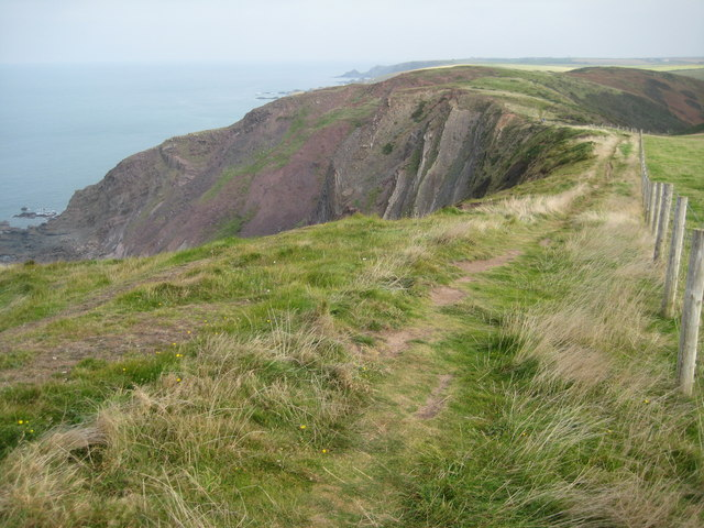 The coast path passing Milford Common