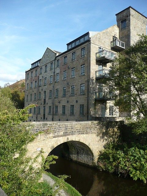 Woodhouse Mill and canal bridge, Todmorden