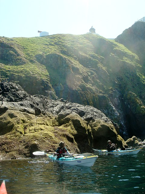 Out of the swell below St. Abbs lighthouse