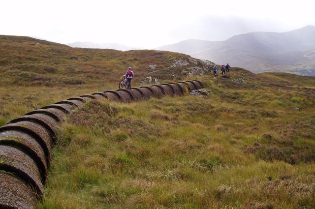 Pipeline from Loch Eilde Mor
