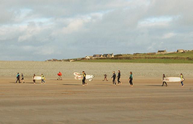 Surf school at Newgale beach