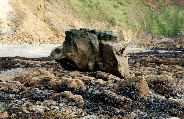 Rocks on the shoreline at Pwll March, Newgale