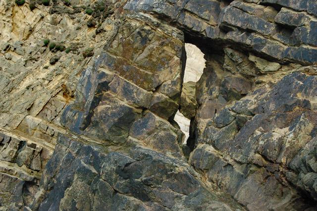 A small rock arch near Pwll March, Newgale