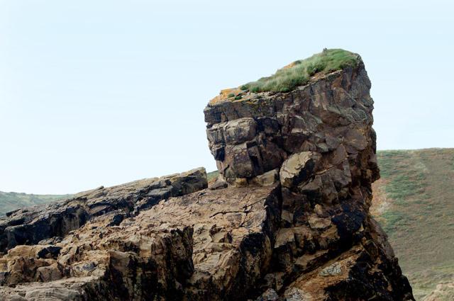 Foreshore rock stack near Pwll March, Newgale