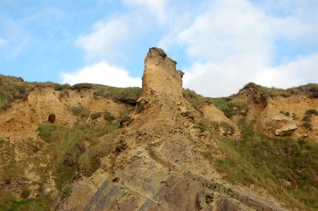 Erosion on the clifftop above Pwll March, Newgale