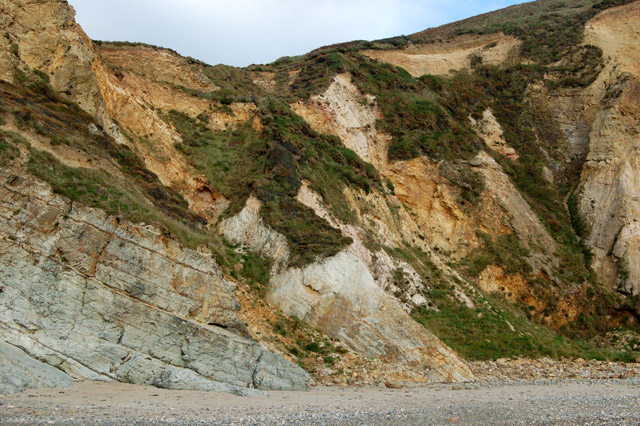 Eroded cliff face, Pwll March, Newgale