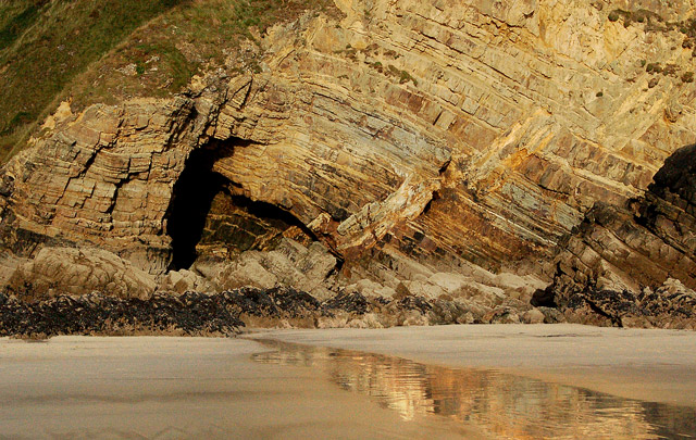 Folded strata at north end of Newgale beach