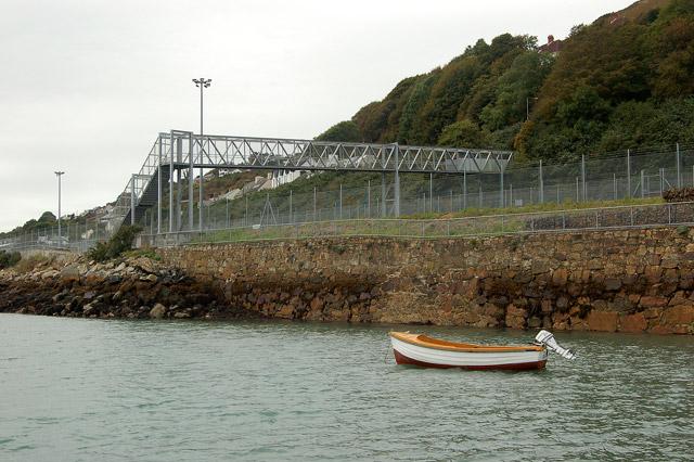 Footbridge near Fishguard ferry port