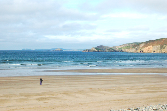 The view west from Newgale beach