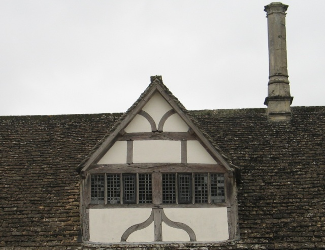 Stone-Tiled roof and Mullioned Window, Lacock Abbey
