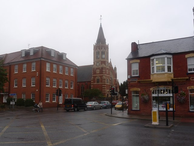 The United Reformed Church at the junction of Station Road with Reading Road