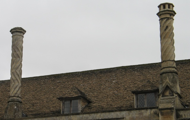 Spiral Fluted Chimneys at Lacock Abbey