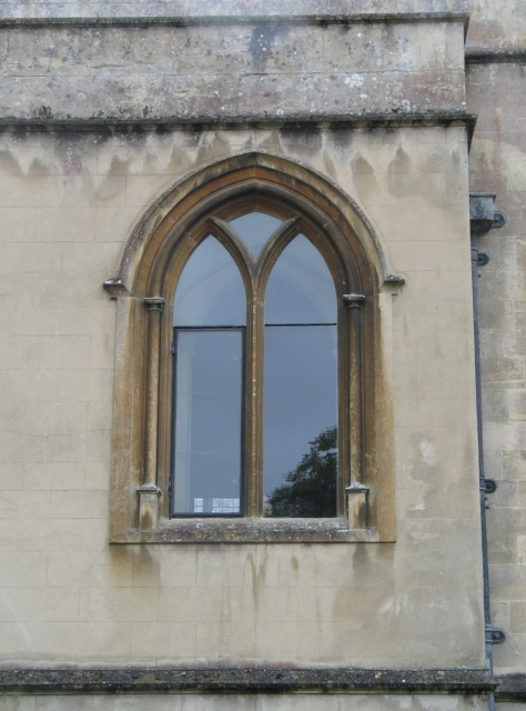 Gothic-Arched Window at Lacock Abbey