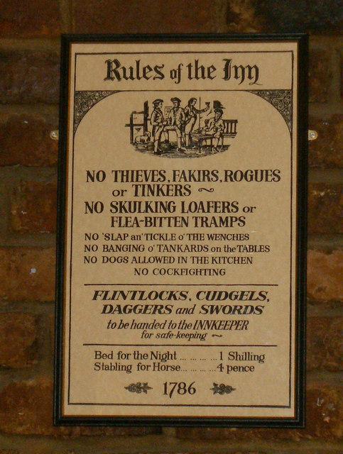Rules of the Inn