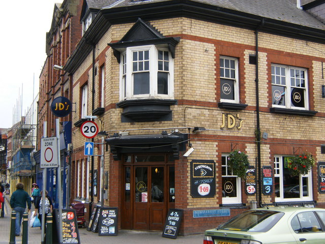 JD's corner of Widemarsh Street, Southside, Hereford