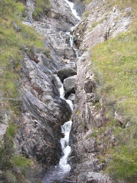 Allt Coire Mheal Challuim, Waterfall