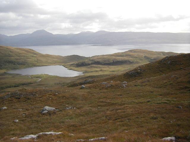 Moorland near  Allt Coire Mheall Challuim