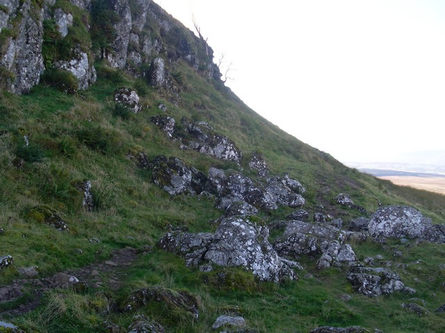 Rock outcrop at north face of Auchineden Hill