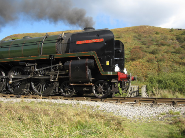 'Oliver Cromwell' in Newtondale - close up
