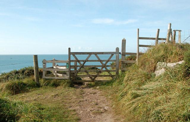 Gate on the coastpath west of Porthclais