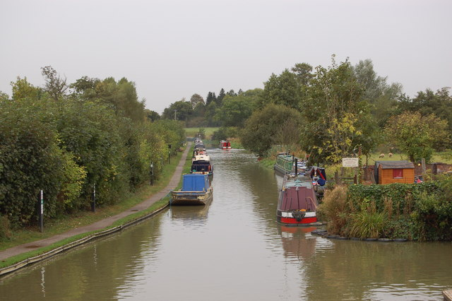 The Oxford Canal at the Old Coal Wharf in Cropredy