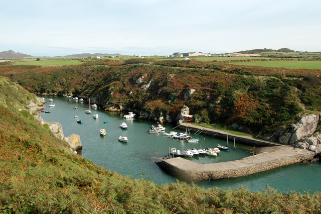 Quay and breakwater at Porthclais harbour
