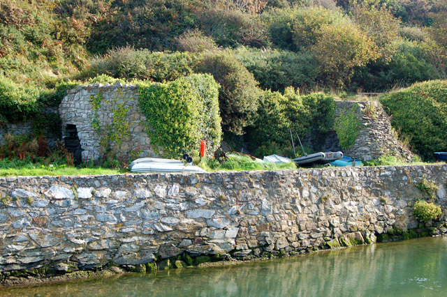 Ivy-covered limekilns at Porthclais harbour