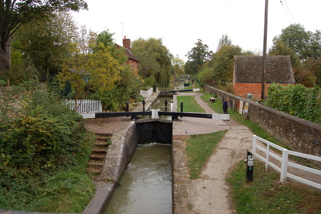 Cropredy lock on the Oxford Canal