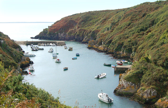 Seaward view of Porthclais harbour