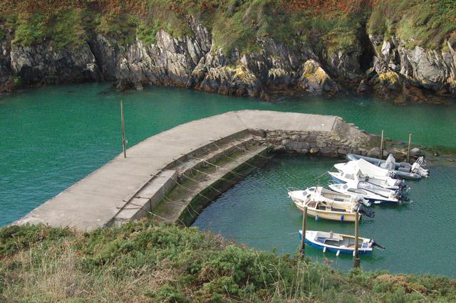 Porthclais harbour breakwater