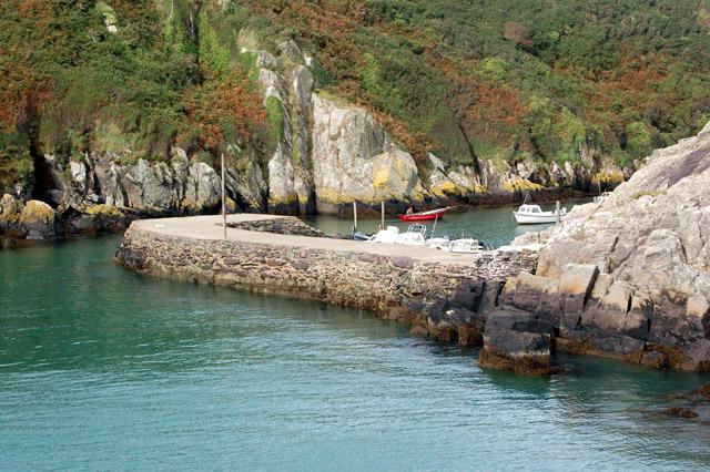 Narrow entrance to Porthclais harbour