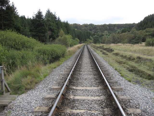 The NYMR track in the direction of Newtondale Halt