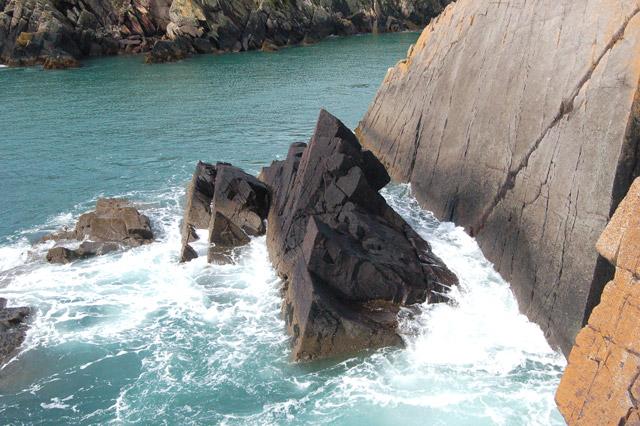 Rockface east of Porthclais (3)