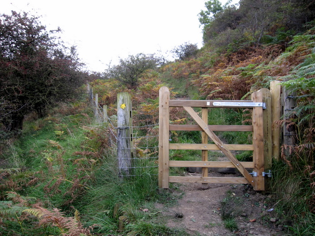 New gate above Havern Beck