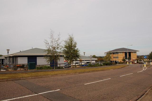 King's Park Road at Moulton Park industrial estate