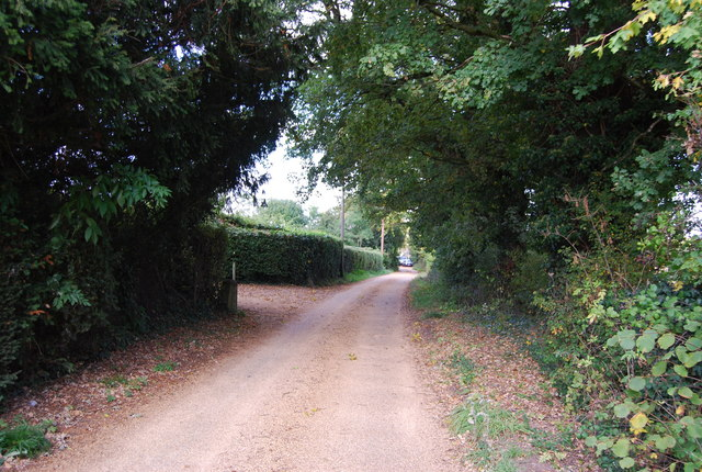 Lane leading to Lower Haysden from Manor Farm